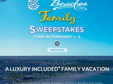 The Wheel of Fortune Beaches Resorts Family Sweepstakes Sweepstakes