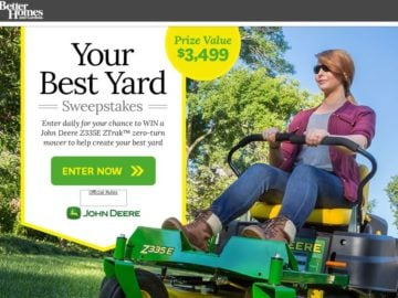 The Better Homes And Gardens Your Best Backyard Sweepstakes