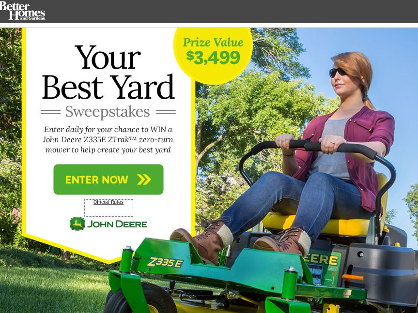 better homes and gardens john deere sweepstakes the better homes and gardens your best backyard sweepstakes 4528