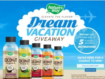 The Nature's Way Elevate the Flavor Dream Vacation Giveaway Sweepstakes