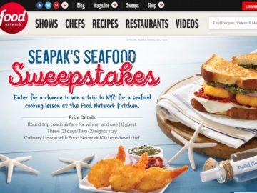 Food Network SeaPak's Seafood Sweepstakes
