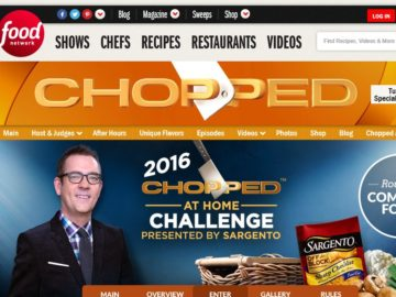 Sargento Chopped at Home Challenge Sweepstakes