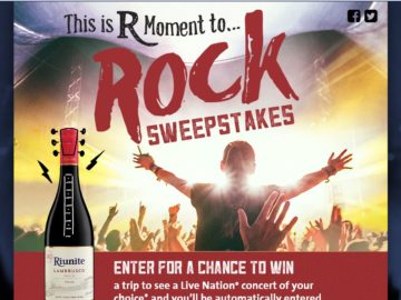 The Riunite R Moment to Rock Sweepstakes