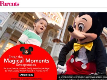 Parents Magical Moments Sweepstakes