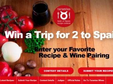 The Tarantas Taste of Spain Recipe & Wine Pairing Contest