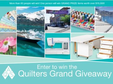 The AQS Quilters Grand Giveaway Sweepstakes