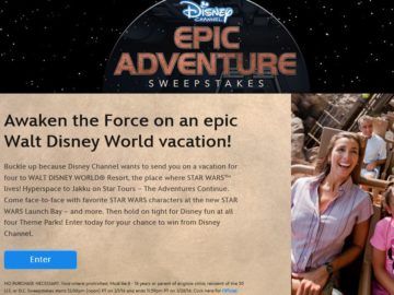 Disney Channel's Epic Adventure Sweepstakes