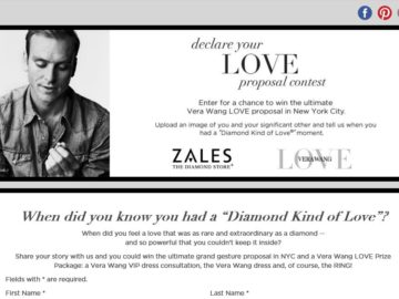 The Zales Declare Your Love Proposal Contest
