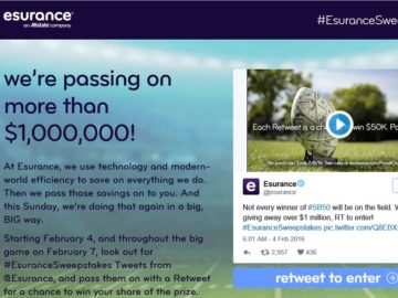 The Esurance Pass It On Sweepstakes