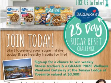 Barbara's 28 Day Sugar Reset Challenge Giveaway Sweepstakes