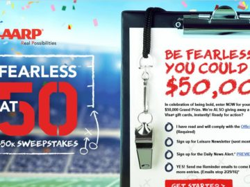 AARP Fearless@50 Sweepstakes