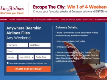 "Bearskin Airlines ""Escape The City"" Contest"