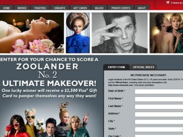 Cinemark Zoolander 2 Makeover Sweepstakes
