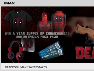 The Deadpool IMAX Sweepstakes