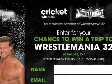 Cricket Wireless WrestleMania 32 Sweepstakes