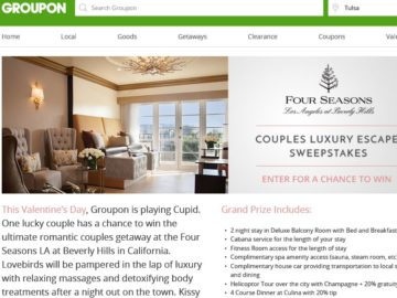 Groupon's Couples Luxury Escape Sweepstakes