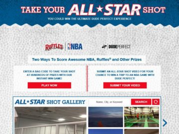 """RUFFLES """"Take Your All-Star Shot"""" Sweepstakes"""