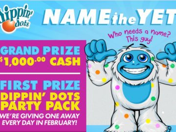 The DIPPIN' DOTS Name the Yeti Sweepstakes