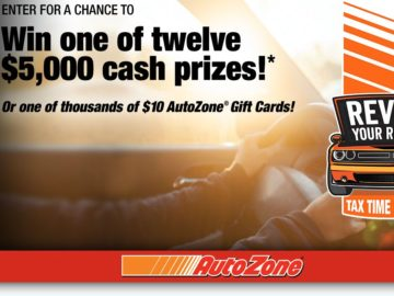 sweepstakes tax the autozone 2016 tax time sweepstakes 7563