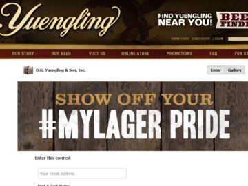 D.G. Yuengling & Son, Inc. Yuengling #MyLager Sweepstakes – Select States