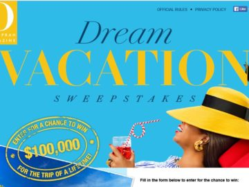 The O Magazine $100,000 Cash Spectacular Sweepstakes