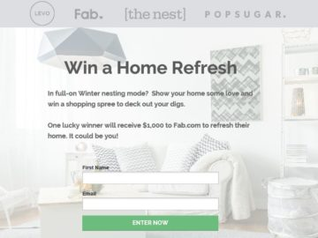 "Levo League ""Home Refresh"" Giveaway 2016 Sweepstakes"