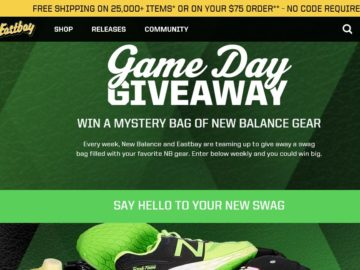 EastBay Game Day Giveaway Sweepstakes