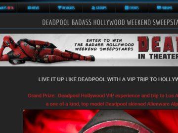 Deadpool Badass Hollywood Weekend Sweepstakes