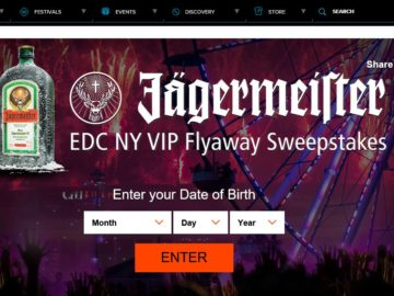 The Jagermeister EDC NY Sweepstakes