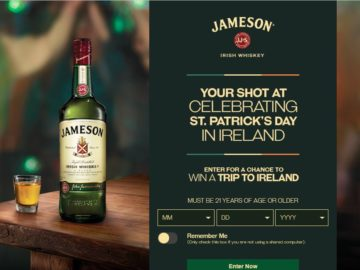 The Jameson St. Patrick's Day Sweepstakes