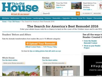 The Old House Search for America's Best Remodel 2016 Sweepstakes