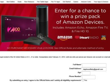 The Amazon Appstore & iHeartRadio Device Sweepstakes