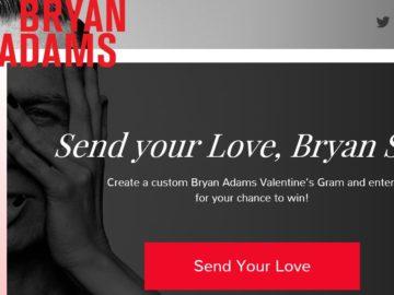 The Bryan Adams YOU BELONG TO ME Flyaway Sweepstakes