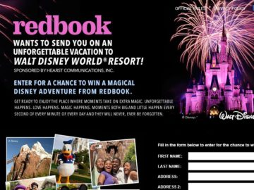 Redbook Unforgettable Adventure Sweepstakes