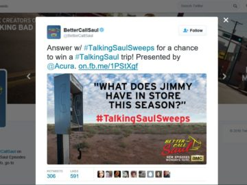 """The Twitter """"The Talking Saul"""" Sweepstakes"""