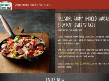 The Hillshire Farm #Sausage Sweepstakes