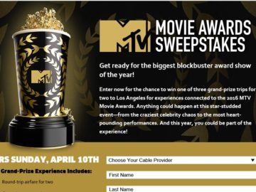 2016 MTV Movie Awards Sweepstakes