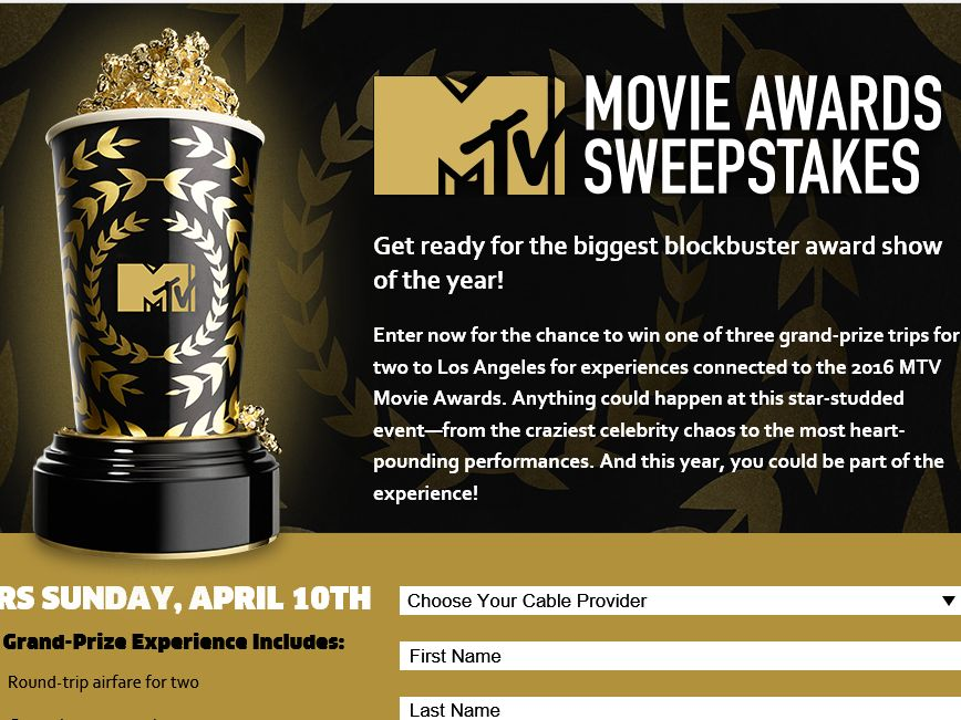 mtv sweepstakes 2016 mtv movie awards sweepstakes 3666
