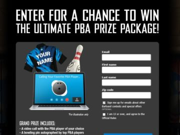 Barbasol's Ultimate PBA Prize Package Sweepstakes