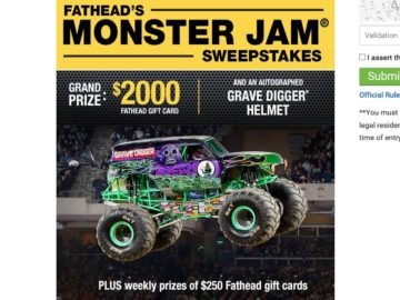 Fathead's Monster Jam Sweepstakes