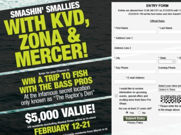 Bass Pro Shops 2016 Spring Fishing Classic Sweepstakes
