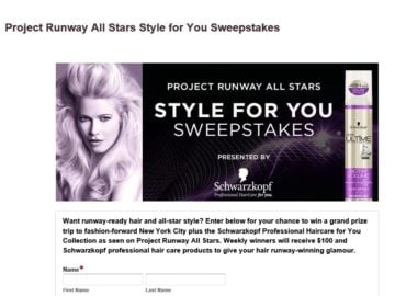 Project Runway All Stars Style for You Sweepstakes