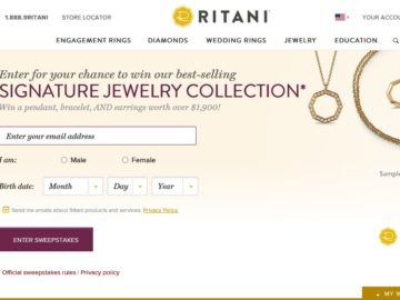 The Ritani Signature Jewelry Collection Sweepstakes