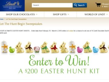 Lindt Let the Hunt Begin Sweepstakes