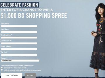 Bergdorf Goodman Shopping Spree Sweepstakes
