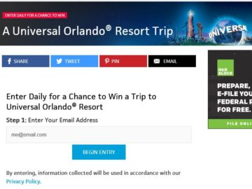 Travel Channel's Universal Orlando Resort 2016 Sweepstakes