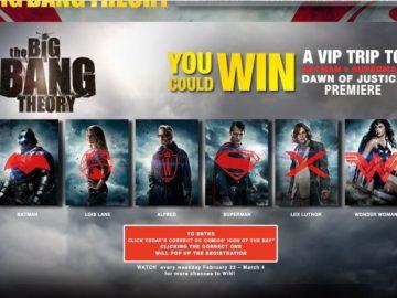 The Big Bang Theory Batman V Superman Who Will Win? Sweepstakes