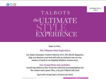 Talbots: The Ultimate Style Experience Sweepstakes