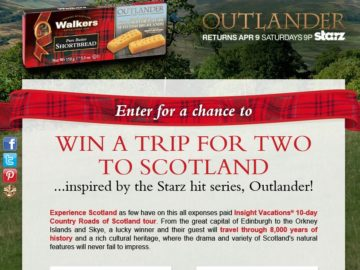 Walkers Shortbread Outlander Sweepstakes