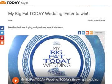 The My Big Fat TODAY Wedding Contest